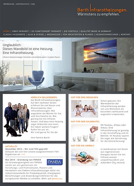 Barth Infrarotheizungen GmbH Internetseite
