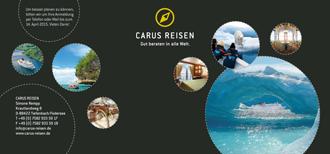 Einladungskarte Carus Reisen