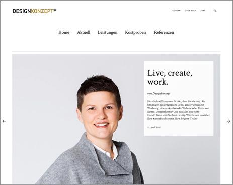 Homepage Designkonzept