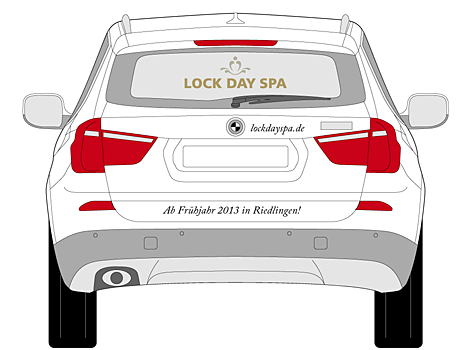 Autobeschriftung Lock Day Spa