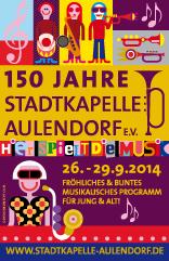 Kalender für das 150-jährige Bestehen der Stadtkapelle Aulendorf e.V.