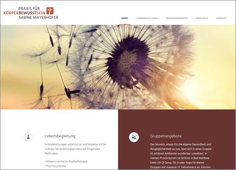 Homepage Praxis für Körperbewusstsein Sabine Mayerhofer