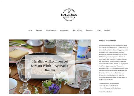 Homepage Barbara Wirth Ayurveda-Köchin