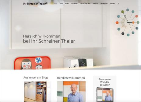 Homepage Ihr Schreiner Thaler
