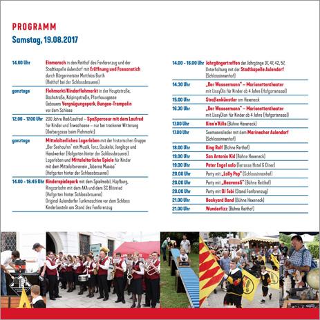 Programmheft Schloss-& Kinderfest