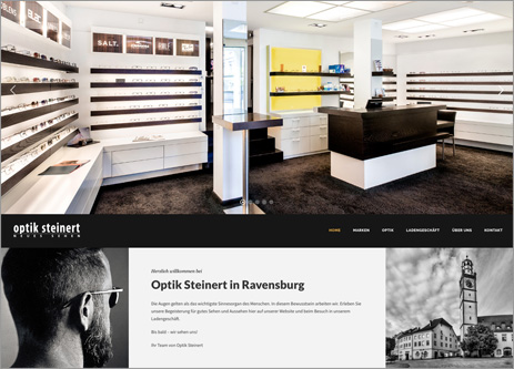Homepage Optik Steinert