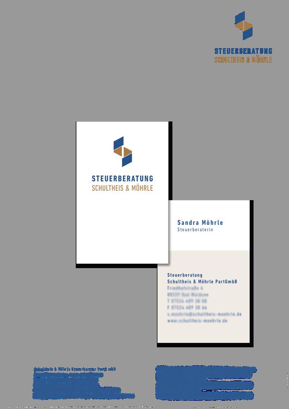 Briefbogen und Visitenkarte Schultheis-Möhrle