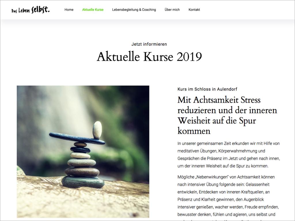 """Homepage """"Das Leben selbst"""""""